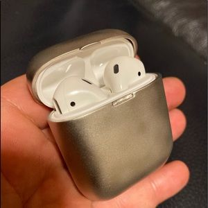 Solid 925 Sterling Silver Apple AirPods Case